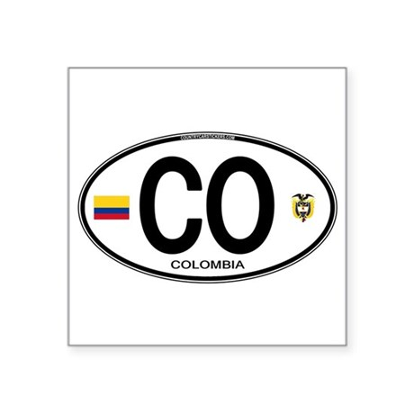 Colombia Euro Oval Oval Sticker