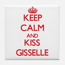 Keep Calm and Kiss Gisselle Tile Coaster