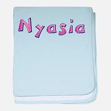 Nyasia Pink Giraffe baby blanket