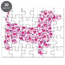 Valentine Dachshund Hearts Puzzle