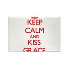 Keep Calm and Kiss Grace Magnets
