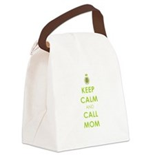 Keep Calm and Call Mom Canvas Lunch Bag