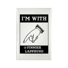 With the Lapphund Rectangle Magnet (10 pack)