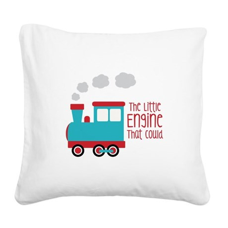 The Little Engine That Could Square Canvas Pillow