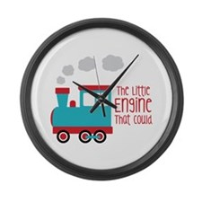 The Little Engine That Could Large Wall Clock