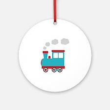 Steam Engine Train Ornament (Round)