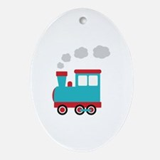 Steam Engine Train Ornament (Oval)