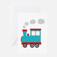 Steam Engine Train Greeting Cards