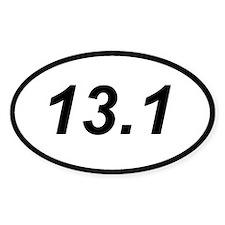 13.1 half marathon running sticker (oval)