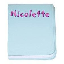 Nicolette Pink Giraffe baby blanket