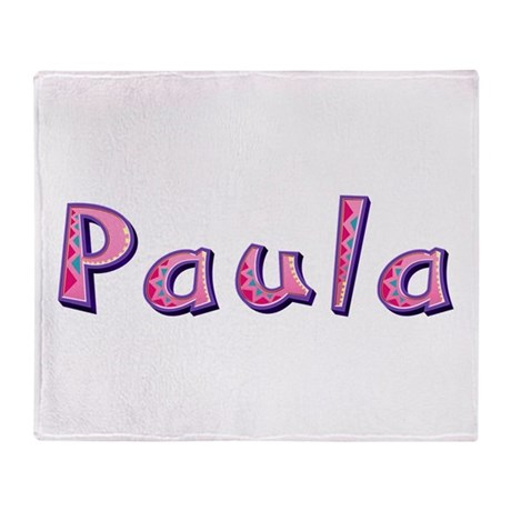 Paula Pink Giraffe Throw Blanket