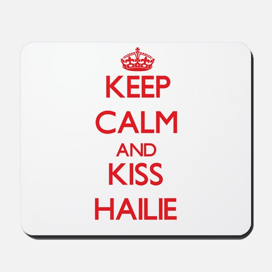 Keep Calm and Kiss Hailie Mousepad