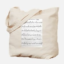 Keep Of The Promise Song Sheet Music Tote Bag