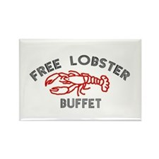 Free Lobster Buffet Rectangle Magnet