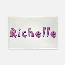 Richelle Pink Giraffe Rectangle Magnet