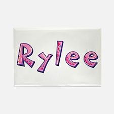 Rylee Pink Giraffe Rectangle Magnet