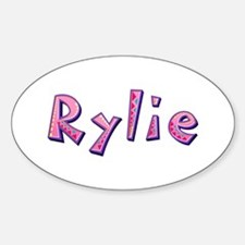 Rylie Pink Giraffe Oval Decal