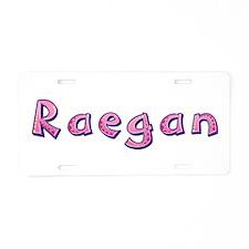 Raegan Pink Giraffe Aluminum License Plate