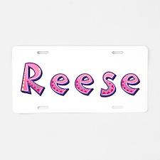 Reese Pink Giraffe Aluminum License Plate
