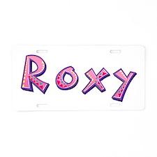 Roxy Pink Giraffe Aluminum License Plate