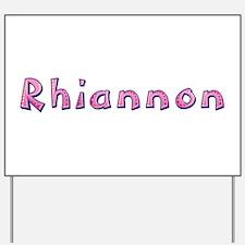 Rhiannon Pink Giraffe Yard Sign