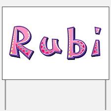 Rubi Pink Giraffe Yard Sign