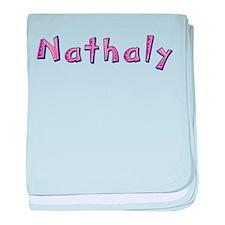 Nathaly Pink Giraffe baby blanket
