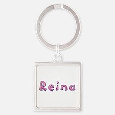Reina Pink Giraffe Square Keychain