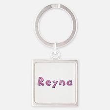 Reyna Pink Giraffe Square Keychain