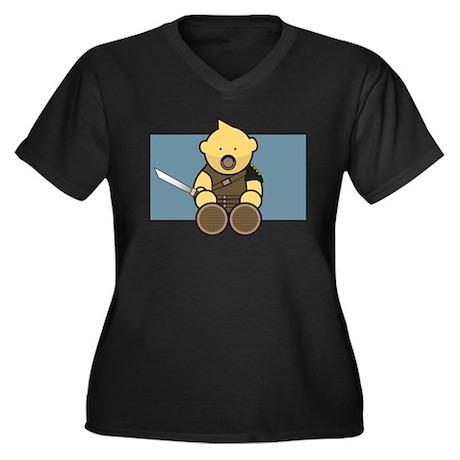 L'il Maximus Women's Plus Size V-Neck Dark T-Shirt