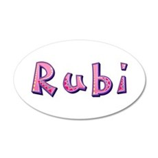 Rubi Pink Giraffe Wall Decal