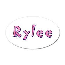Rylee Pink Giraffe Wall Decal