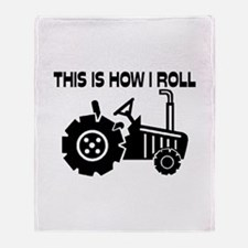 This Is How I Roll Farming Tractor Throw Blanket