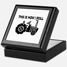 This Is How I Roll Farming Tractor Keepsake Box