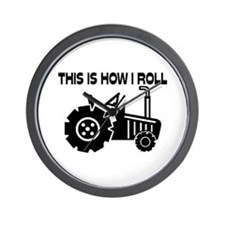This Is How I Roll Farming Tractor Wall Clock
