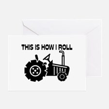 This Is How I Roll Farming Tractor Greeting Card