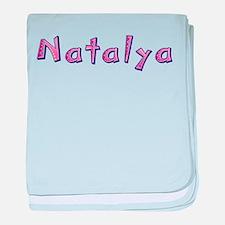 Natalya Pink Giraffe baby blanket