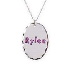 Rylee Pink Giraffe Oval Necklace