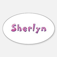 Sherlyn Pink Giraffe Oval Decal