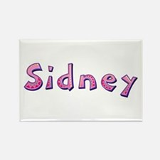 Sidney Pink Giraffe Rectangle Magnet