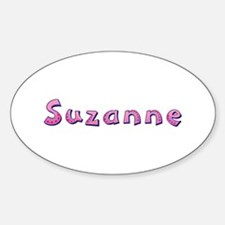 Suzanne Pink Giraffe Oval Decal