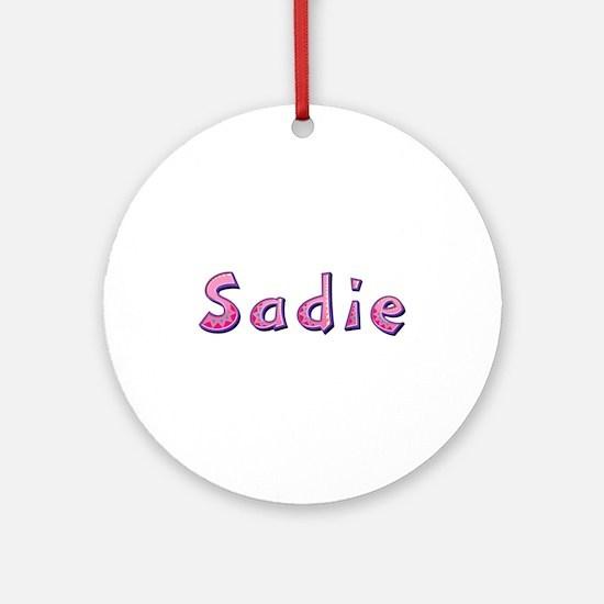 Sadie Pink Giraffe Round Ornament