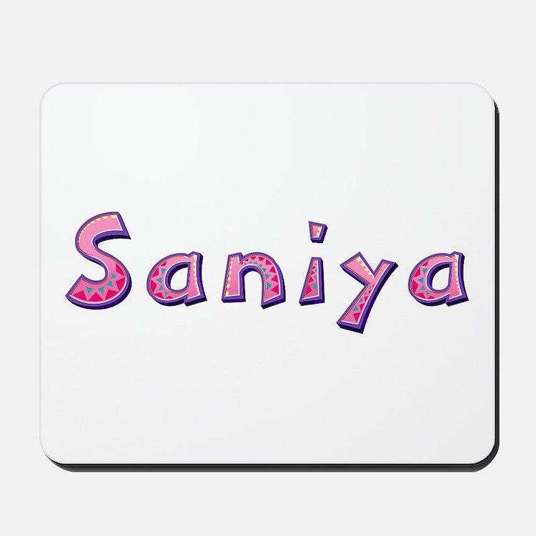 Saniya Pink Giraffe Mousepad
