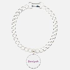 Saniyah Pink Giraffe Charm Bracelet