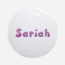 Sariah Pink Giraffe Round Ornament