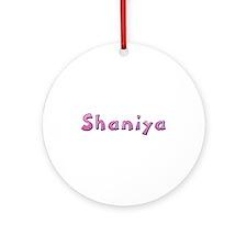 Shaniya Pink Giraffe Round Ornament