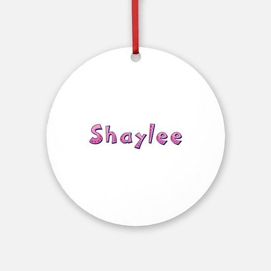 Shaylee Pink Giraffe Round Ornament