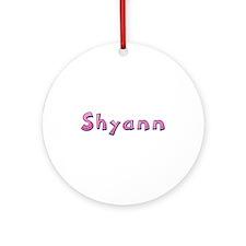 Shyann Pink Giraffe Round Ornament