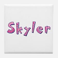 Skyler Pink Giraffe Tile Coaster