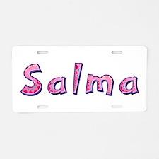 Salma Pink Giraffe Aluminum License Plate